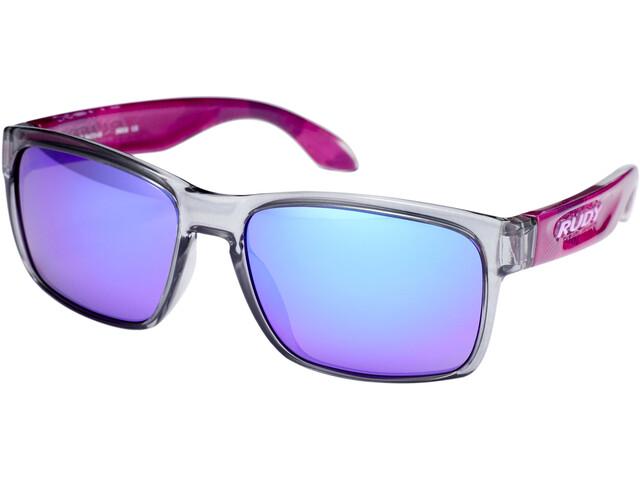 Rudy Project Spinhawk Slim Okulary rowerowe, neo camo crystal wine - rp optics multilaser violet